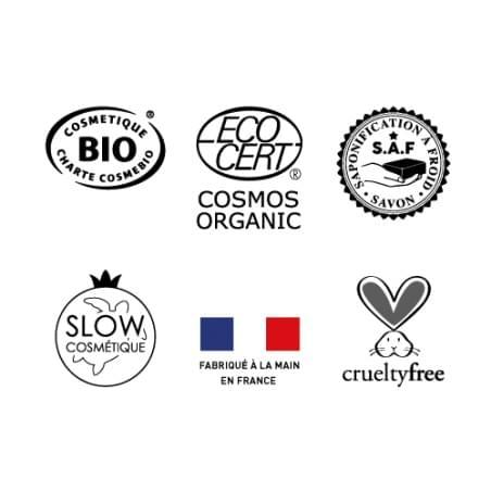 Savon saponifié à froid certifié BIO artisanal - Nature - 90g