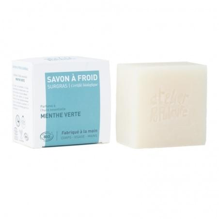 Savon saponifié à froid certifié BIO artisanal - Menthe verte -
