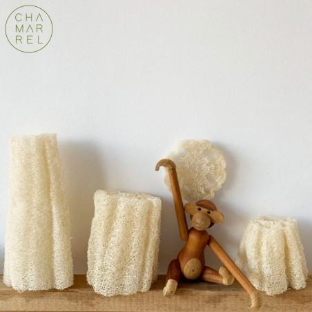 éponge végétale Loofah - 100% naturelle, durable et compostable.