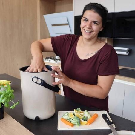 Bac à compost Blanc