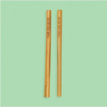 Pailles bambou français - duo