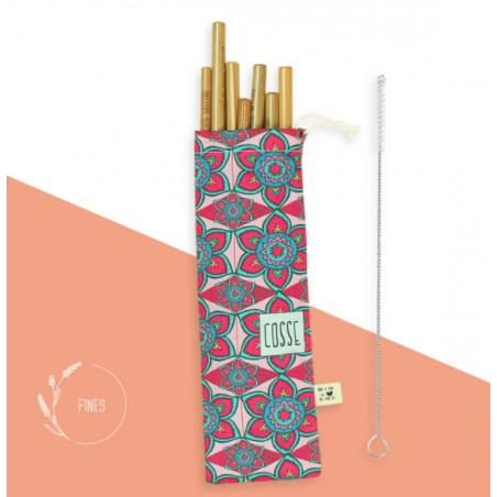 Pack 9 Pailles bambou français