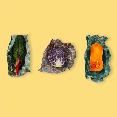 Lot de 3 Cosses taille L - emballage alimentaire naturel